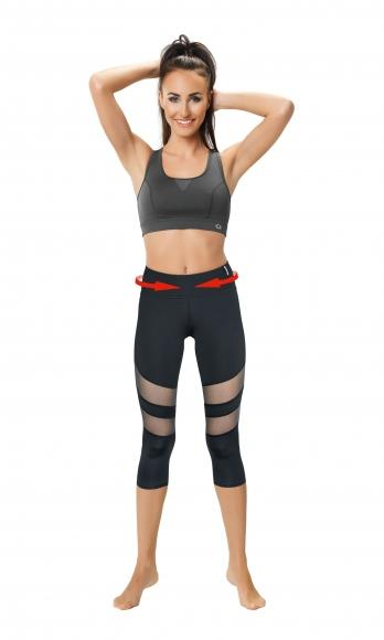 Slimming Capri with Mesh Panels 2